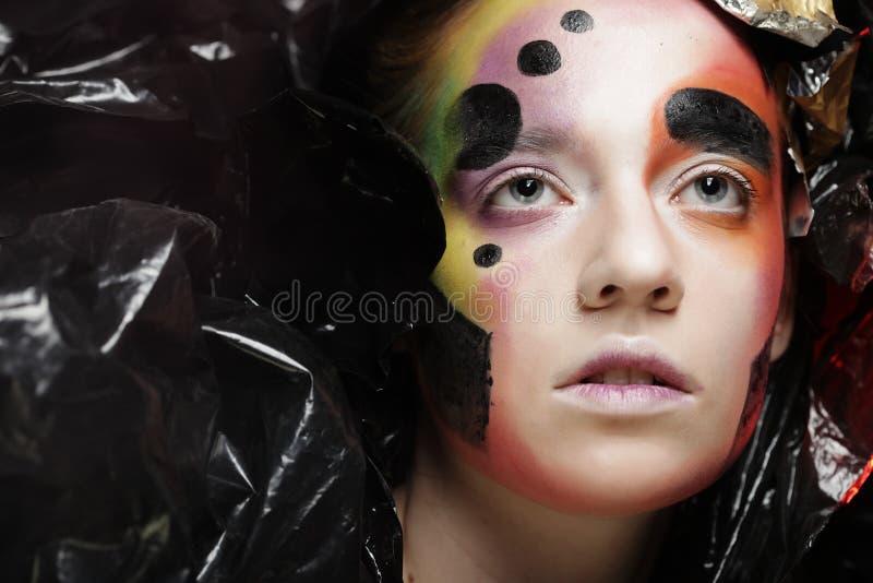 Темная красивая готическая принцесса Концепция партии хеллоуина стоковая фотография