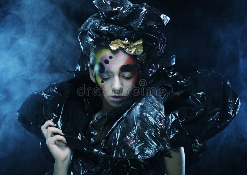 Темная красивая готическая принцесса t стоковая фотография rf