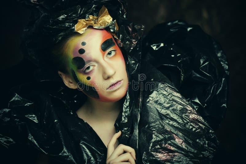 Темная красивая готическая принцесса t стоковые фотографии rf