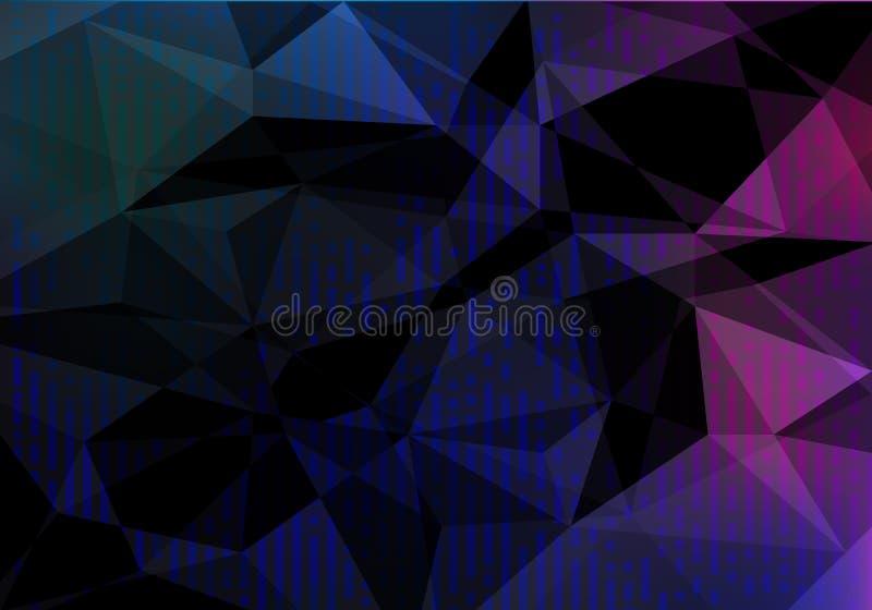 Темная красочная геометрическая предпосылка со случайными вертикальными нашивками Картина конспекта вектора с полигональной текст иллюстрация штока