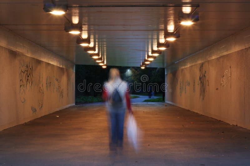 темная пешеходная подземка стоковое фото rf