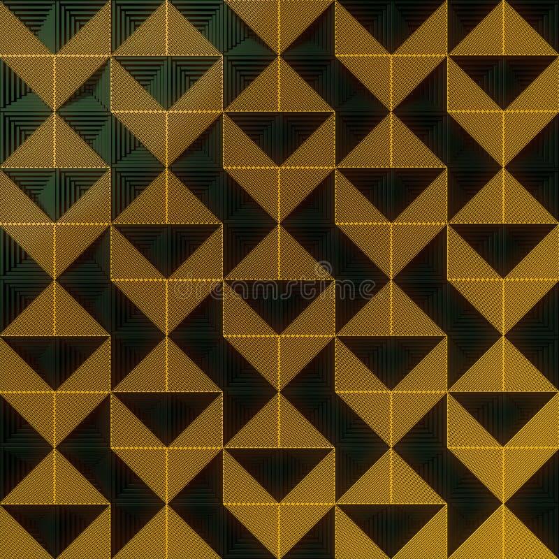 Темная поверхность с картиной оранжевых панелей перевод 3d бесплатная иллюстрация