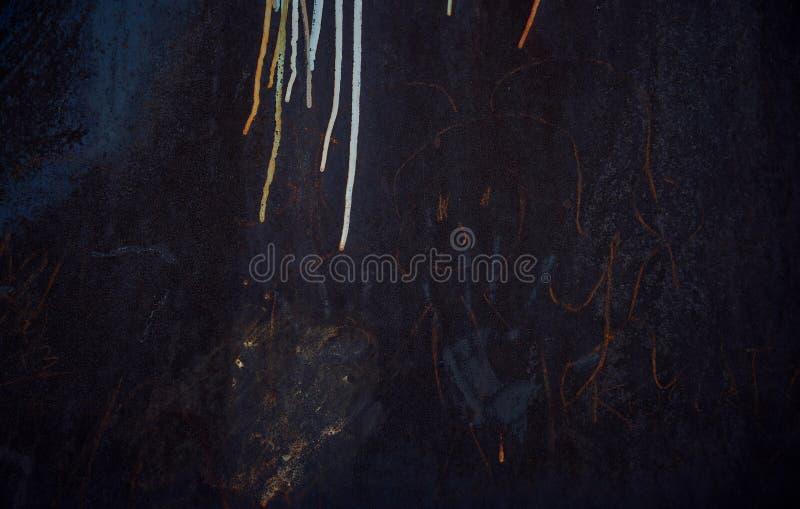 Темная предпосылка Scribble ` s детей стоковое изображение rf