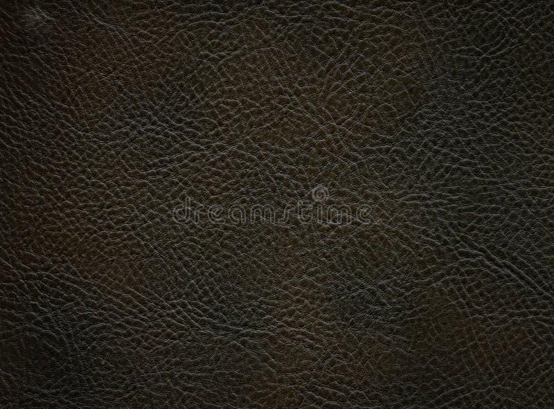 Темная ровная кожаная текстура стоковая фотография