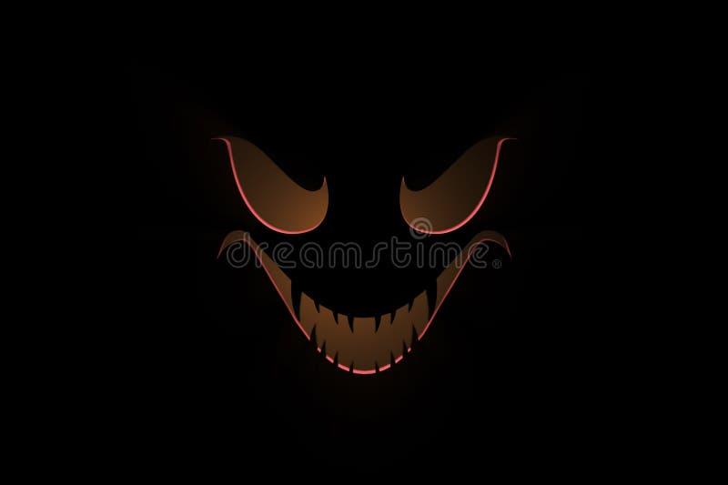 Темная ужасная маска стоковые фото