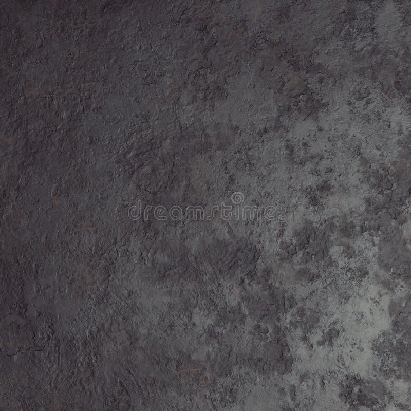 Темная черная каменная текстура предпосылки шифера, 3d представляет иллюстрация вектора