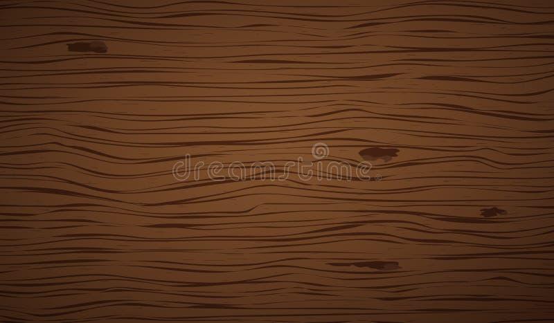 Темное коричневое деревянное вырезывание, прерывая доска, таблица или поверхность пола : r иллюстрация вектора