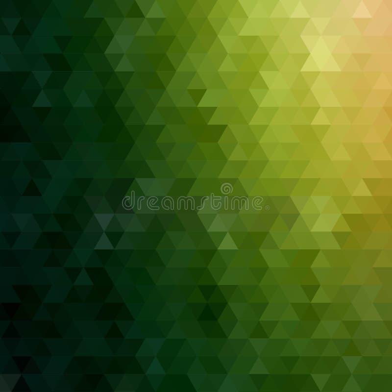 темное ое-зелен триангулярное абстрактная предпосылка вектора 10 eps бесплатная иллюстрация
