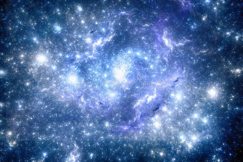 Темное starfield глубокого космоса стоковая фотография rf