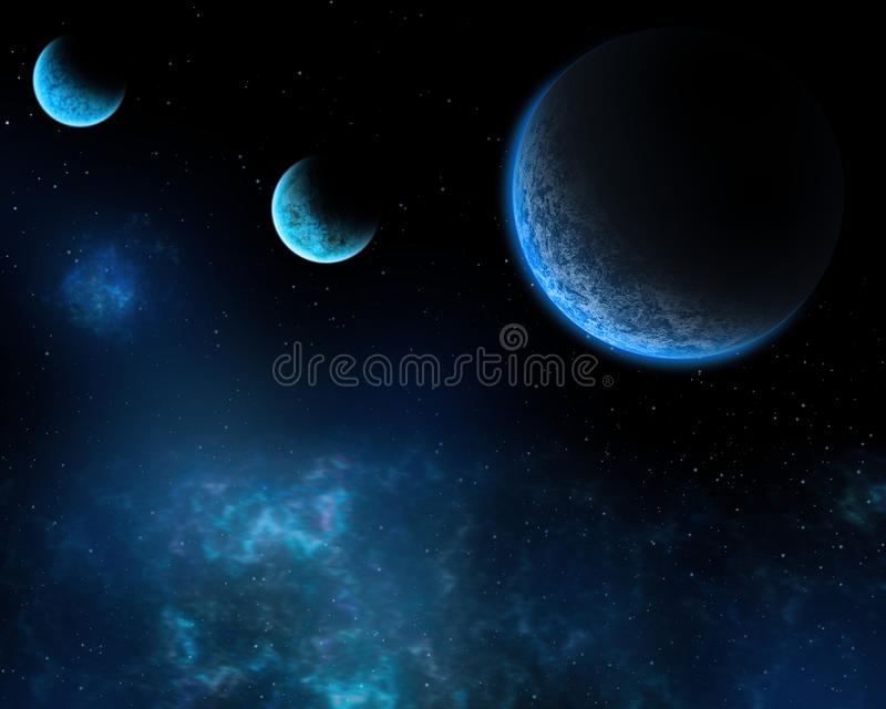 Темносиний космос бесплатная иллюстрация