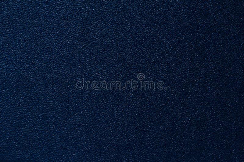 Темносиняя кожаная предпосылка текстуры стоковая фотография rf