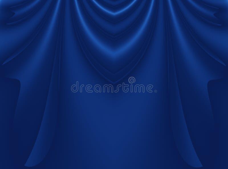 Темносиняя современная абстрактная иллюстрация предпосылки фрактали с стилизованный задрапировывать или занавесами иллюстрация штока