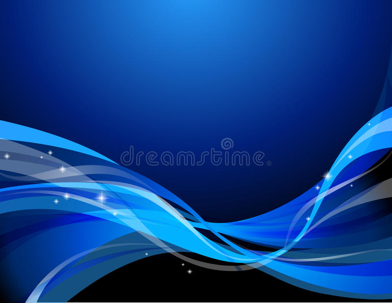 темнота абстрактной предпосылки голубая иллюстрация вектора