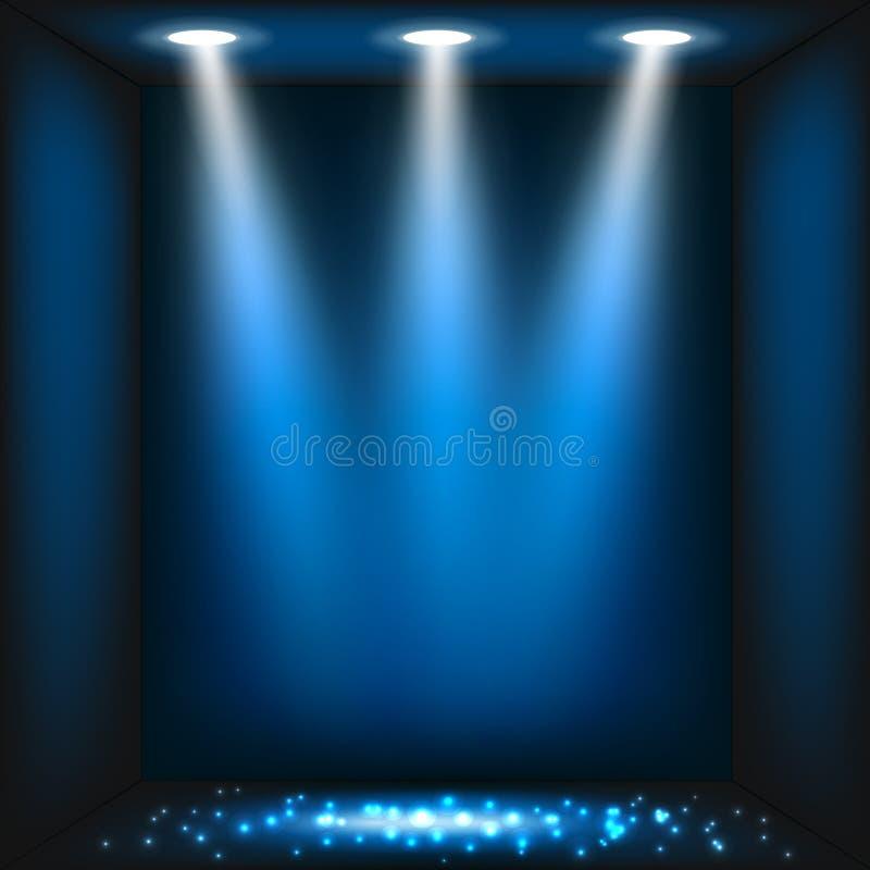 темнота абстрактной предпосылки голубая