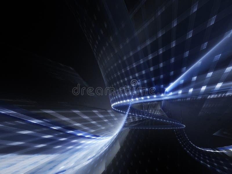 темнота абстрактной предпосылки голубая бесплатная иллюстрация