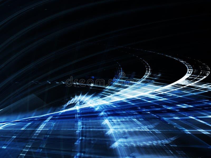 темнота абстрактной предпосылки голубая иллюстрация штока