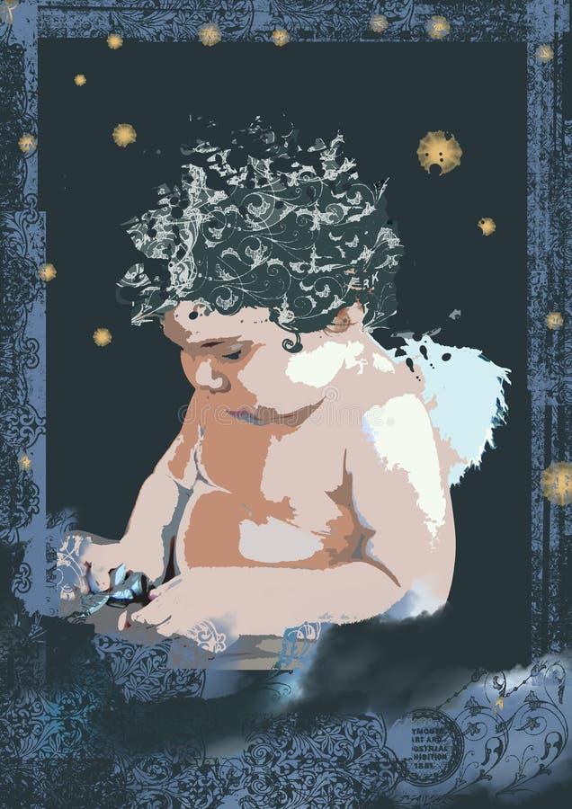 темнота ангела стоковое фото