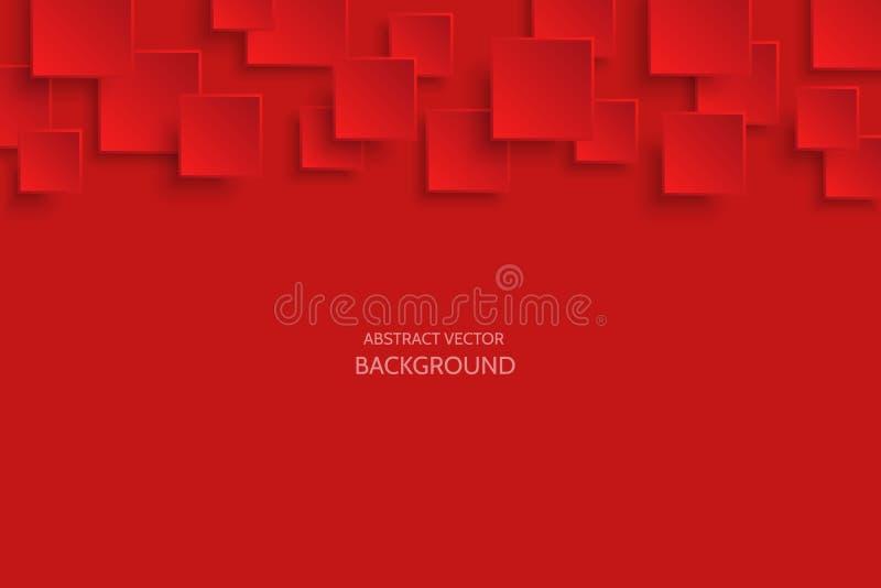 Темнота вектора - красная современная абстрактная предпосылка бесплатная иллюстрация