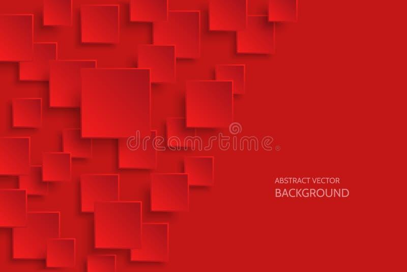 Темнота вектора - красные современные абстрактные предпосылки иллюстрация вектора