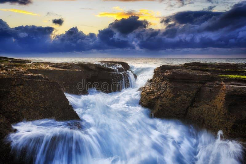 Темнота потока отказа Narrab моря стоковое фото rf