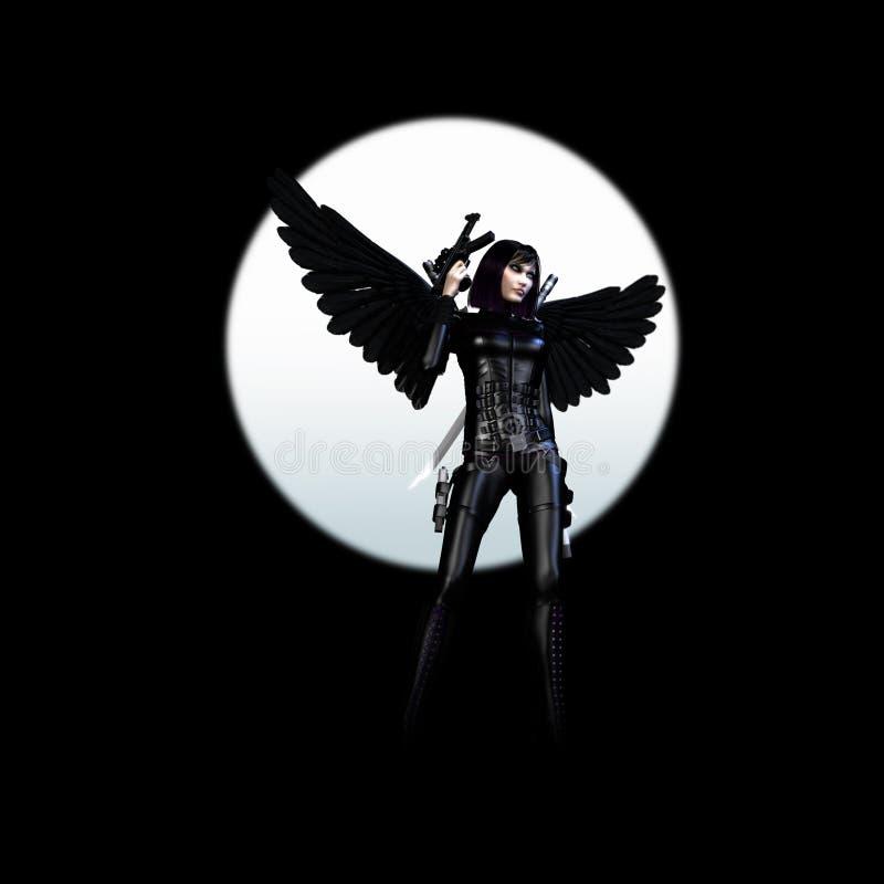темнота 01 ангела иллюстрация вектора