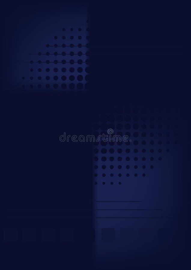 темнота backgraund голубая иллюстрация вектора