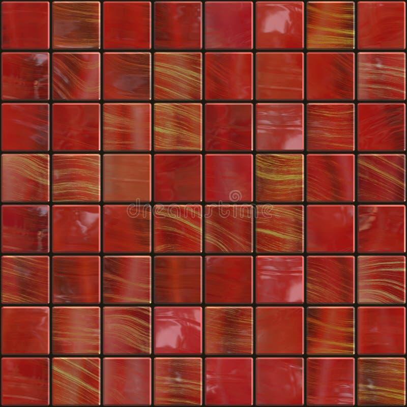 темно - красные плитки иллюстрация вектора