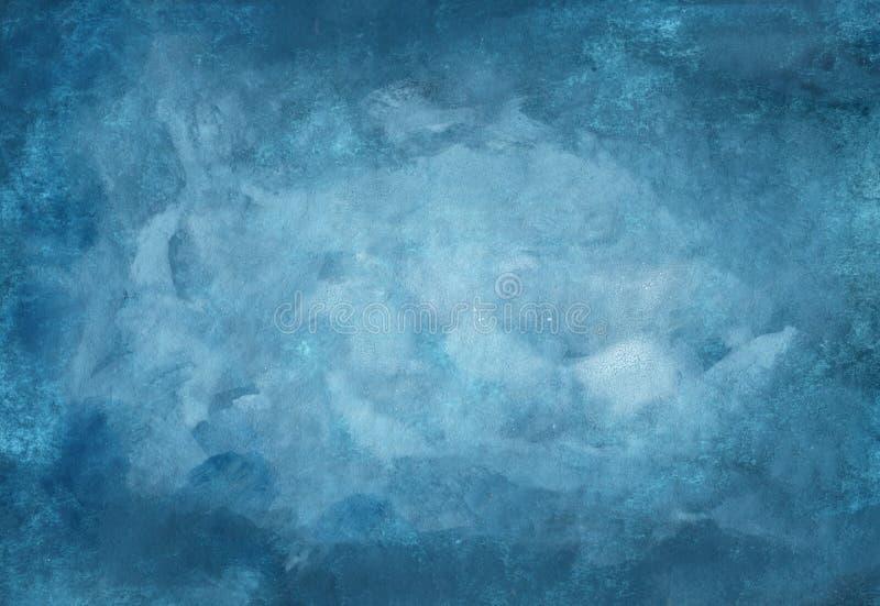Темно-синая абстрактная предпосылка акварели стоковая фотография rf