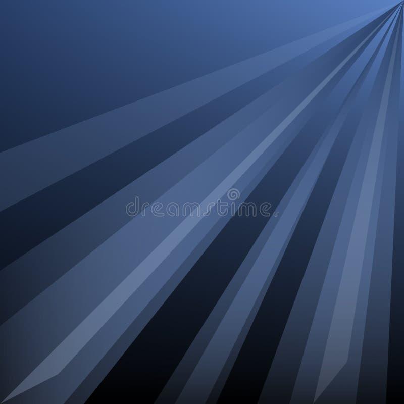 Темно-синая абстрактная предпосылка с лучами бесплатная иллюстрация