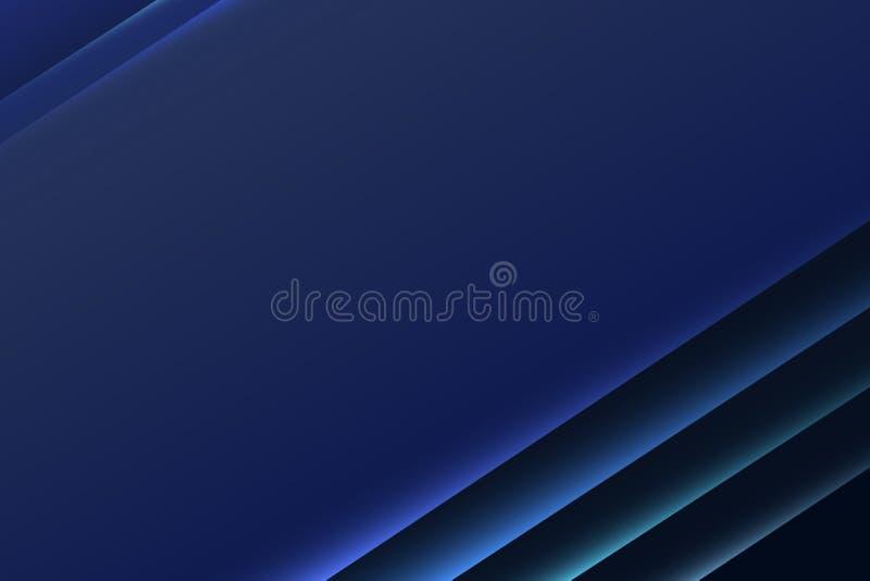 Темно-синим современным наслоенная papercut освещенная предпосылка сети дела бесплатная иллюстрация