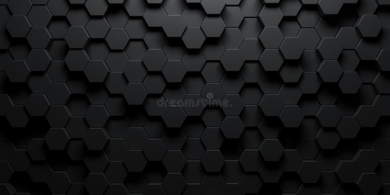 Темно-шестиугольные обои или фон иллюстрация штока