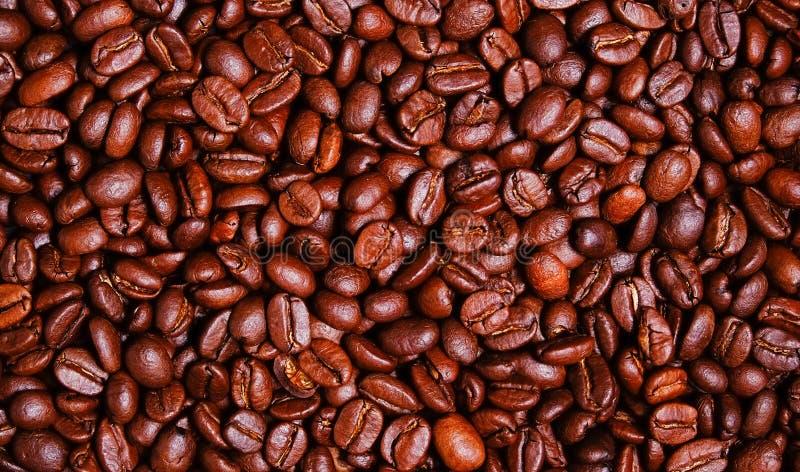 Темные обои кофейных зерен жаркого стоковое изображение