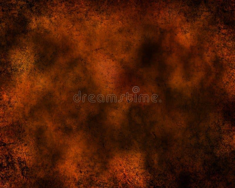 Темный - апельсин и текстурированная чернотой предпосылка стоковое фото