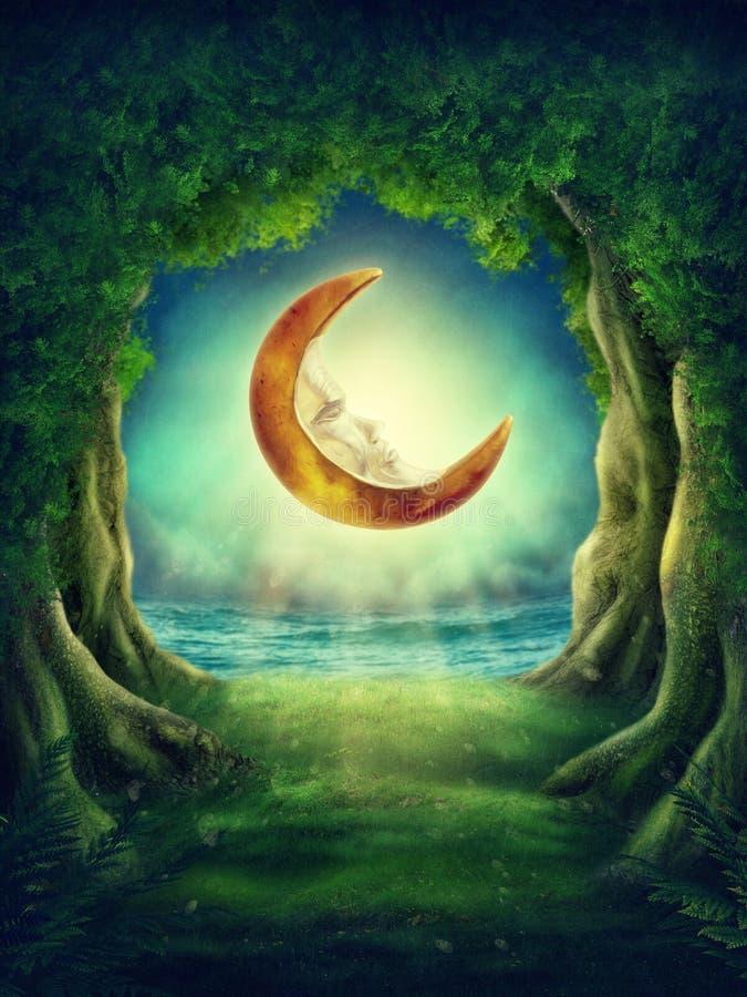 Темный волшебный лес бесплатная иллюстрация