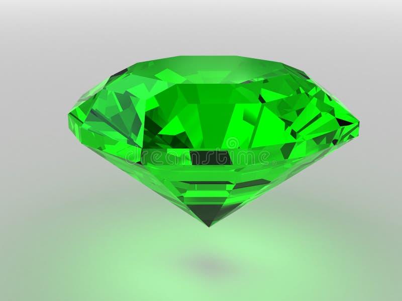 темный зеленый цвет gemstone представил тени мягкой иллюстрация вектора