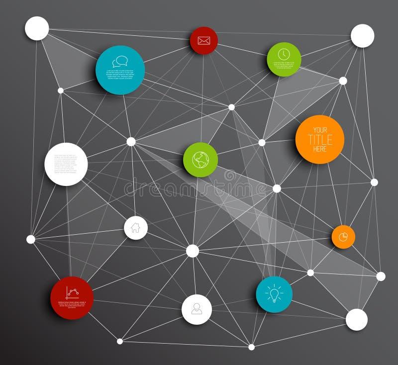 Download Темный конспект вектора объезжает Infographic шаблон сети Иллюстрация вектора - иллюстрации насчитывающей backhoe, свеже: 40583073