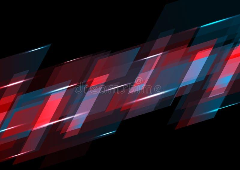 Темный - красная и голубая абстрактная предпосылка техника бесплатная иллюстрация