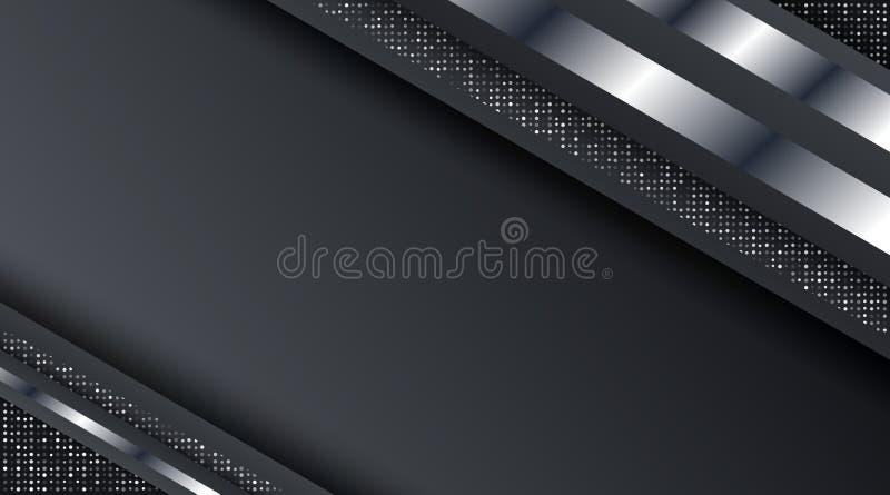 Темный металлический серебряный шаблон предпосылки дизайна корпоративного бизнеса технологии плана рамки иллюстрация вектора