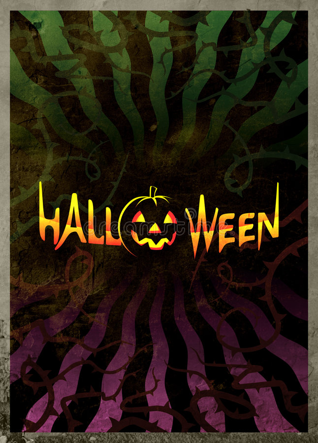 темный плакат halloween иллюстрация штока