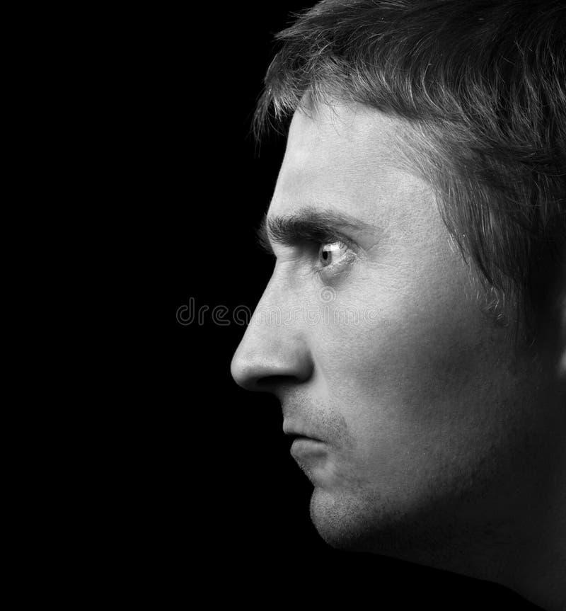 темный портрет стоковое изображение rf