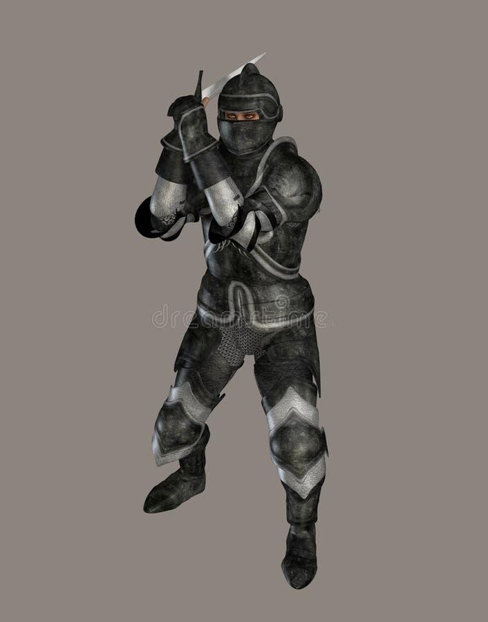 темный рыцарь иллюстрация вектора