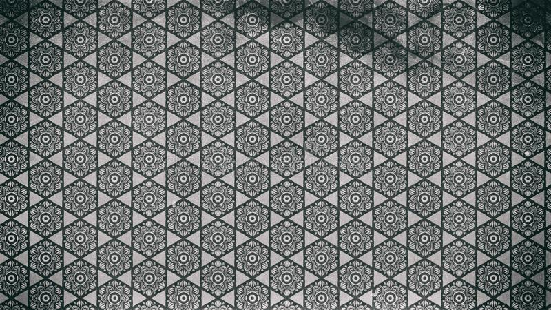 Темный - серая винтажная декоративная предпосылка цветочного узора иллюстрация штока
