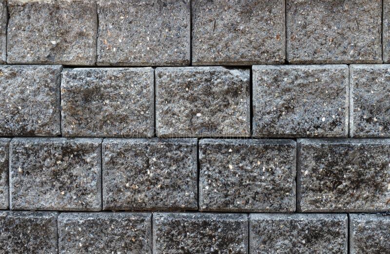 Темный - серая текстура кирпича стоковые фото
