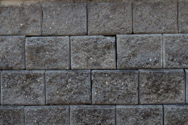 Темный - серая текстура кирпича стоковые изображения rf