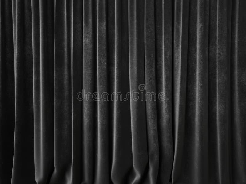 Темный - серый занавес стоковые фото