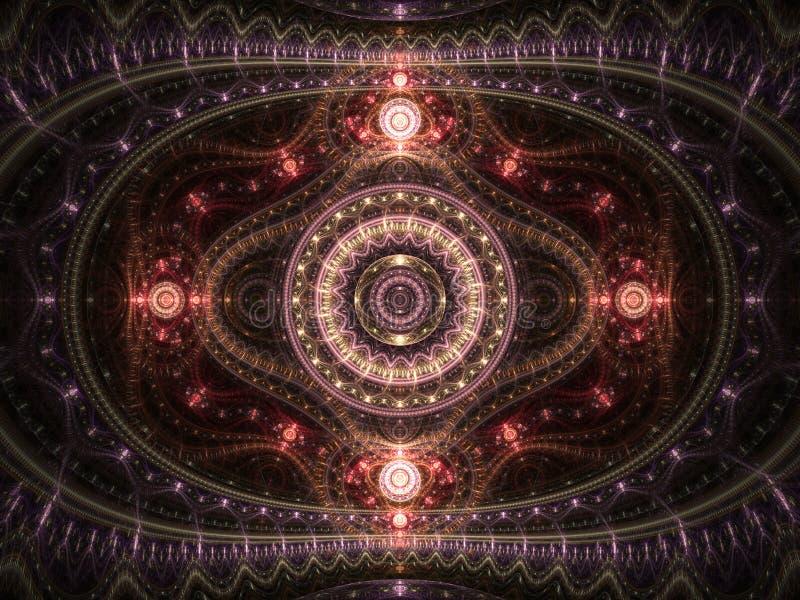 Темный сияющий clockwork фрактали иллюстрация штока