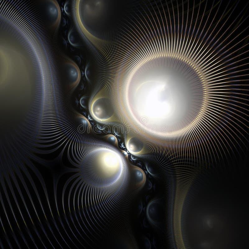 Темный спиковой clockwork фрактали иллюстрация штока