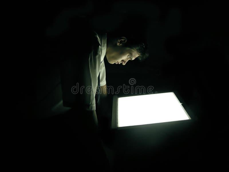 темный человек Стоковые Изображения