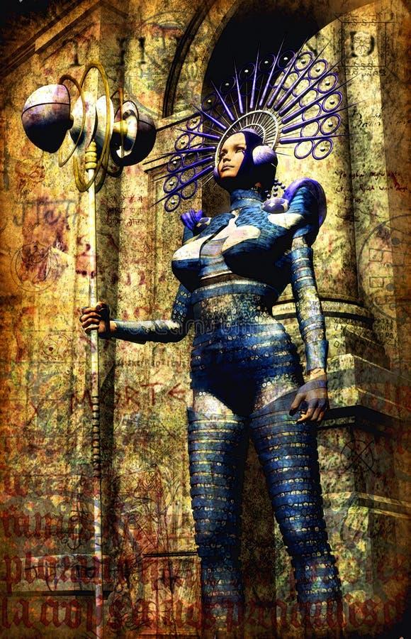 темный princess фантазии иллюстрация вектора