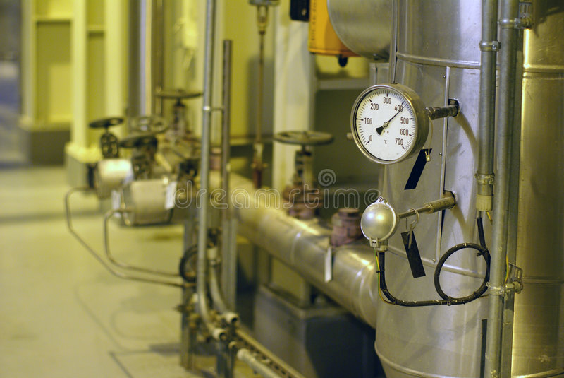 температура давления механизма управления стоковые фото